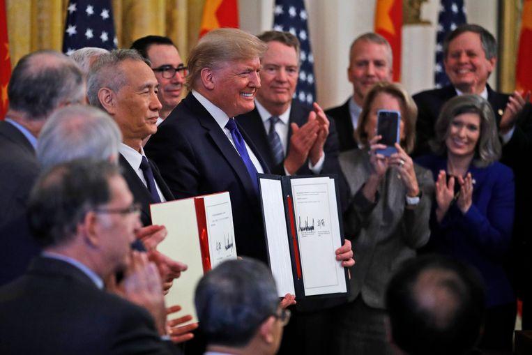 De VS en China sloegen elkaar de voorbije maanden om de oren met hogere handelstarieven en andere ingrepen, met veel onrust en onzekerheid tot gevolg.