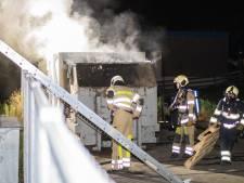 Containerbrand in Woerden
