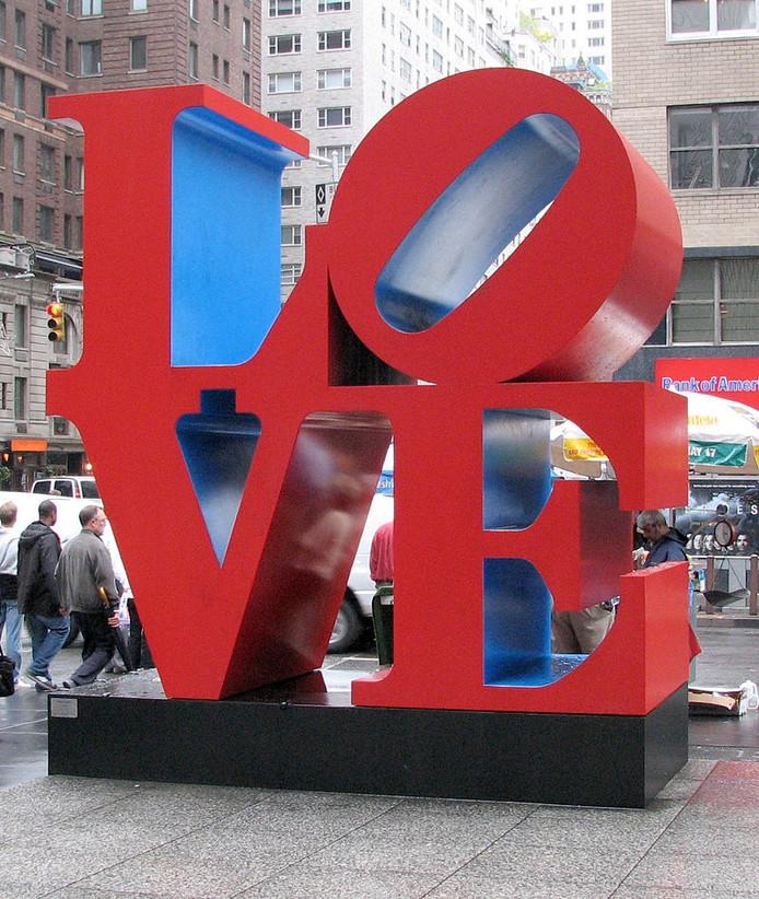 Oorspronkelijk LOVE-beeld in Manhattan.