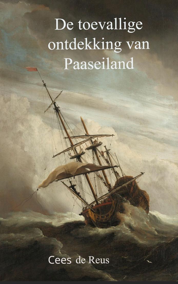 Het schilderij 'De windstoot' van Willem van de Velde II siert de cover van de roman 'De toevallige ontdekking van Paaseiland'.