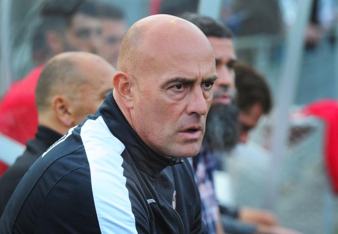 John Karelse in zijn tijd als coach van VC Vlissingen
