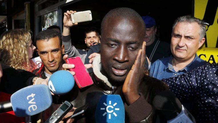 Senegalees M.C kan niet geloven dat hij heeft gewonnen. Beeld null