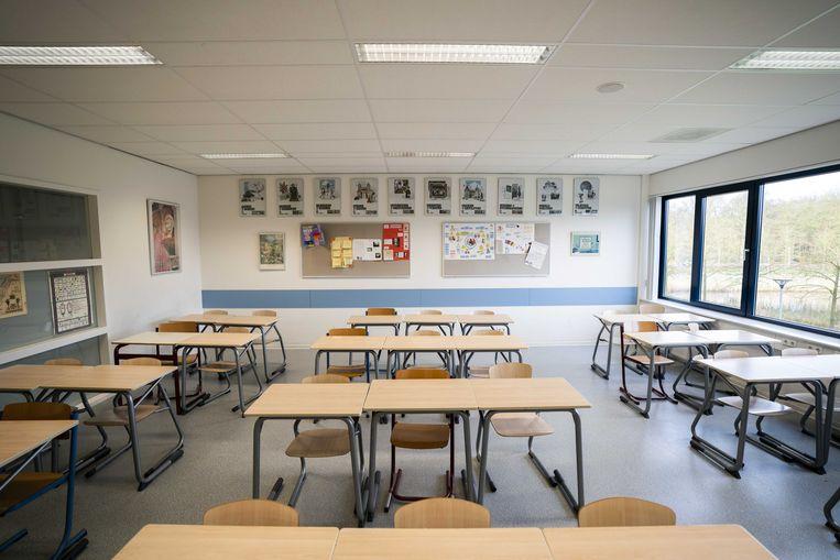 Voorlopig blijven de klassen leeg.