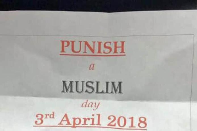 Straf een Moslim-dag op 3 april
