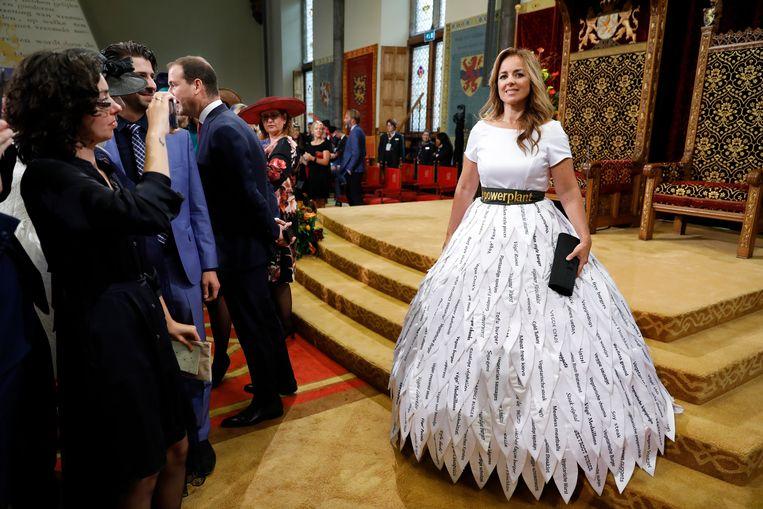 Marianne Thieme in de Ridderzaal op Prinsjesdag vorig jaar. Beeld ANP