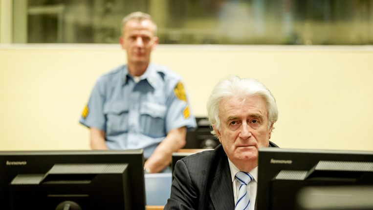 Karadzic gaat in hoger beroep. Beeld anp