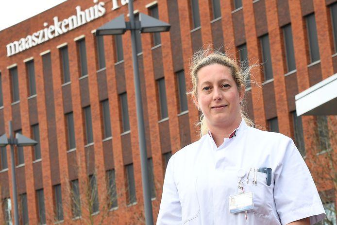 Cardioloog en intensivist Inge Janssen van het Maasziekenhuis: ,,We zien, gelukkig maar, ook patiënten weer opknappen.''