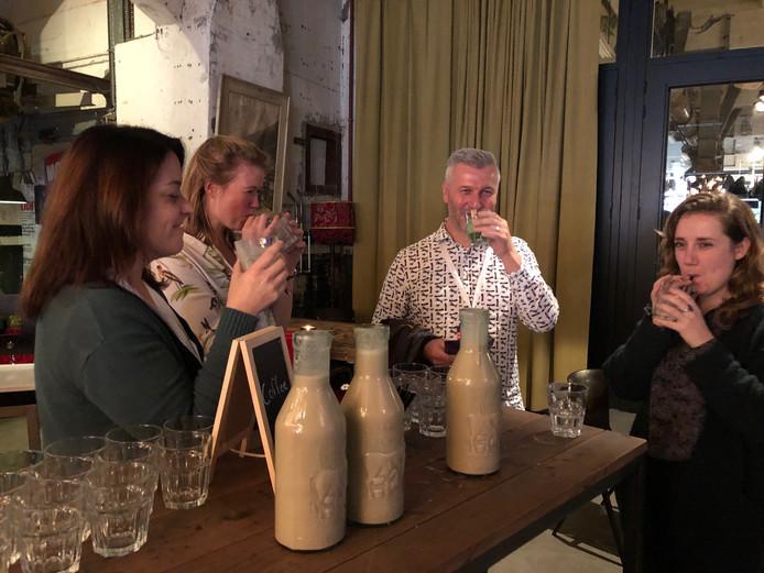 Smoothies voor de gasten van het World Creativity Forum op de Noordkade in Veghel.