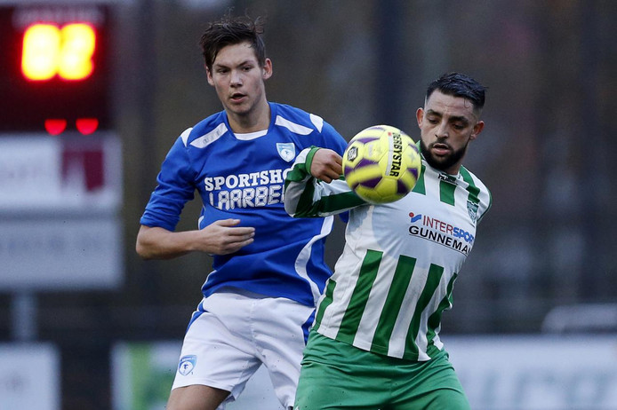 Zohir Elmaach van SV Brandevoort bezorgde zijn ploeg in de slotfase een punt tegen ASV '33