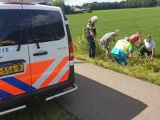 Man belandt met driewieler-fiets in sloot in Aalten