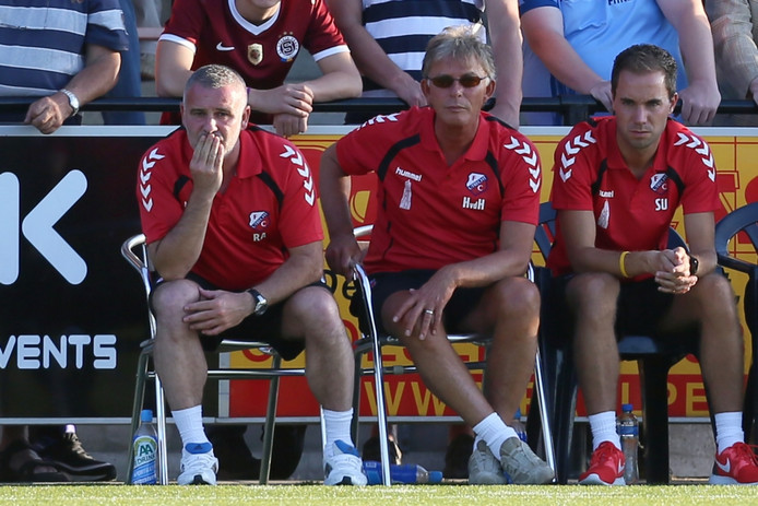 Sjors Ultee (rechts) was al eens werkzaam onder Helmond Sport-trainer Robby Alflen.