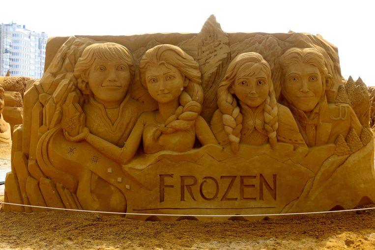 Prinsessen Anna en Elsa met hun prinsen.
