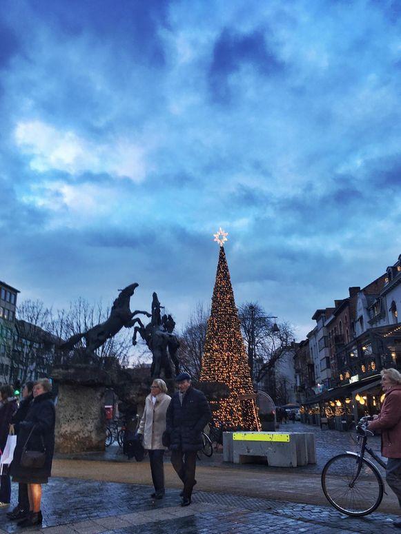 Hasselt-centrum in de kerstperiode.