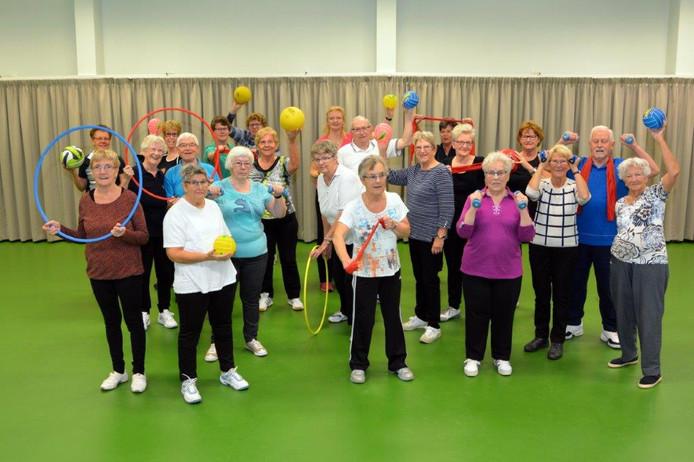 Archieffoto (2017) van gymnastiek voor ouderen in De Leemhof.