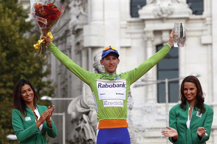 Mollema wint de groene trui in de Vuelta. Beeld epa