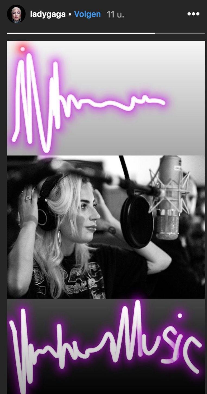 Lady Gaga in de studio