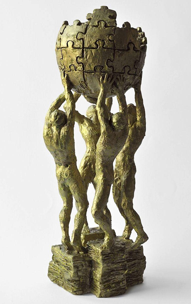 Een schaalmodel van het monument.