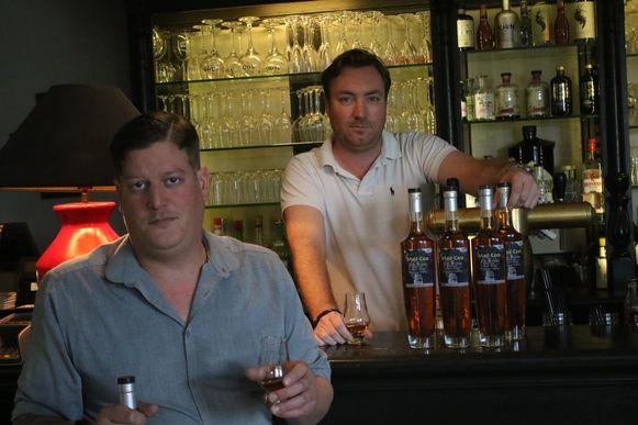 Uitbaters Frederik Appelt uit Werchter en Philippe Walschaerts uit Rotselaar zijn meer dan tevreden met hun whisky.
