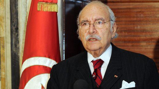 Tijdelijk president van Tunesië Foued Mebezza