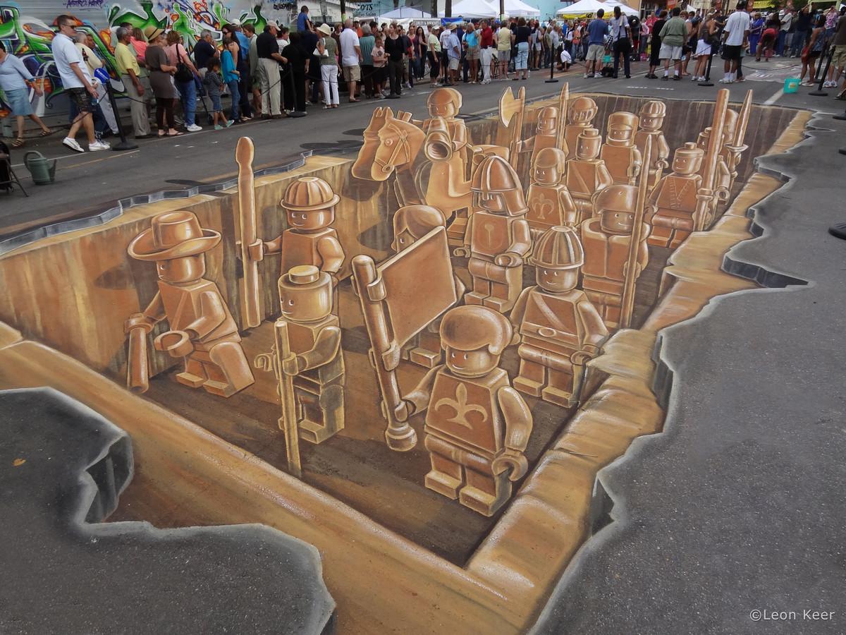 Met dit leger van terracotta legomannetjes in Florida brak Leon Keer in 2011 internationaal door.