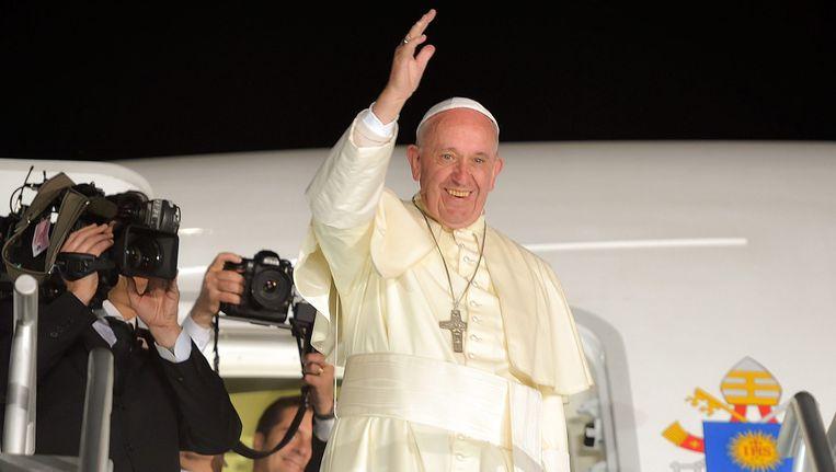 De Paus tijdens zijn bezoek in Mexico Beeld null