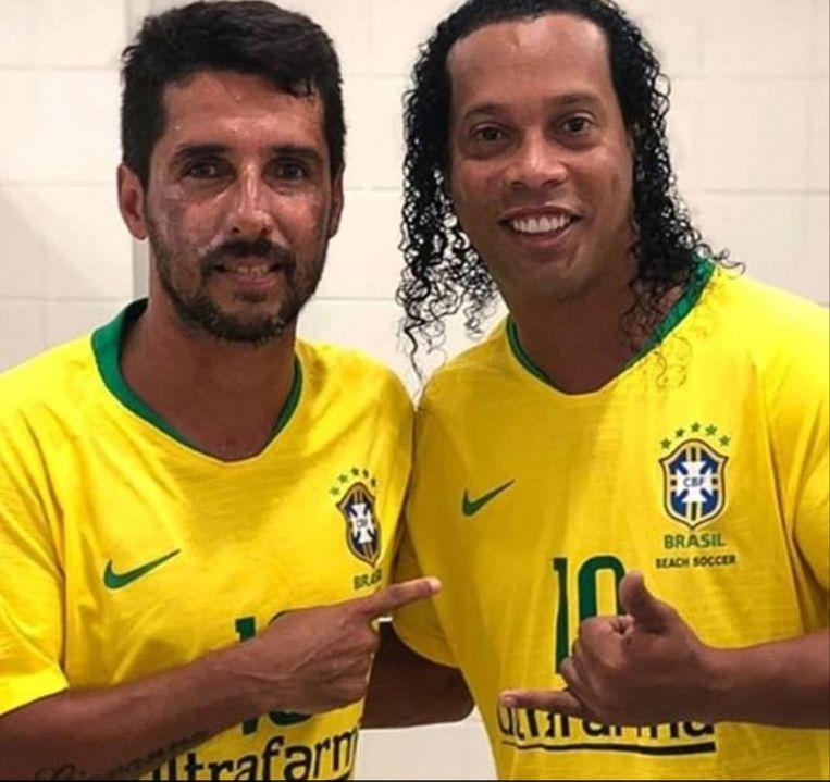 Jorginho met Ronaldinho.