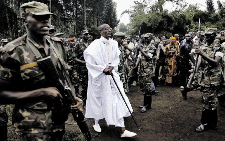 Rebellenleider Laurent Nkunda zorgt al jaren voor chaos in Oost-Congo. (FOTO AP) Beeld AP