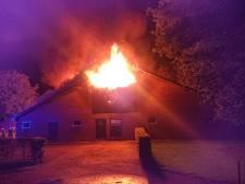 Grote brand in boerenschuur in Maarsbergen
