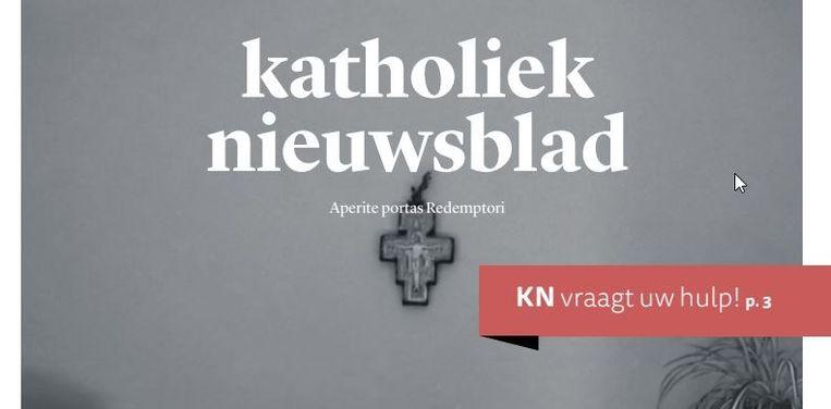 De website van het Katholiek Nieuwsblad Beeld Katholiek Nieuwsblad