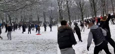Une bataille de boules de neige géante fait polémique en Angleterre