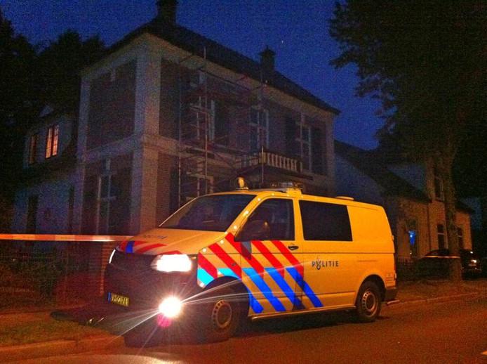 De woning waar de overval plaatsvond. Foto: Matthijs Oppenhuizen
