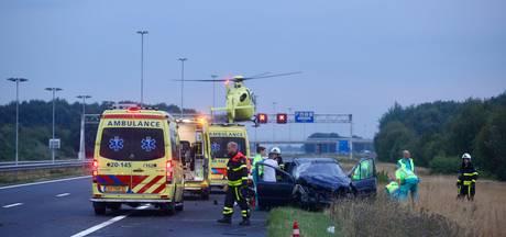 Dode en gewonden door zwaar ongeluk A58; bestuurder had gedronken
