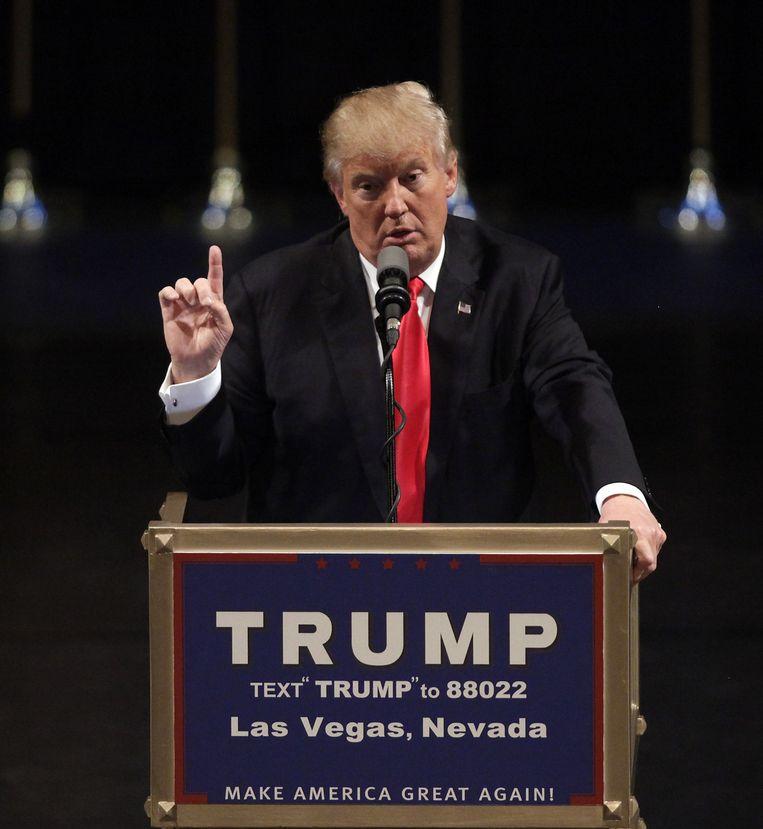 Trump in Las vegas. Beeld null