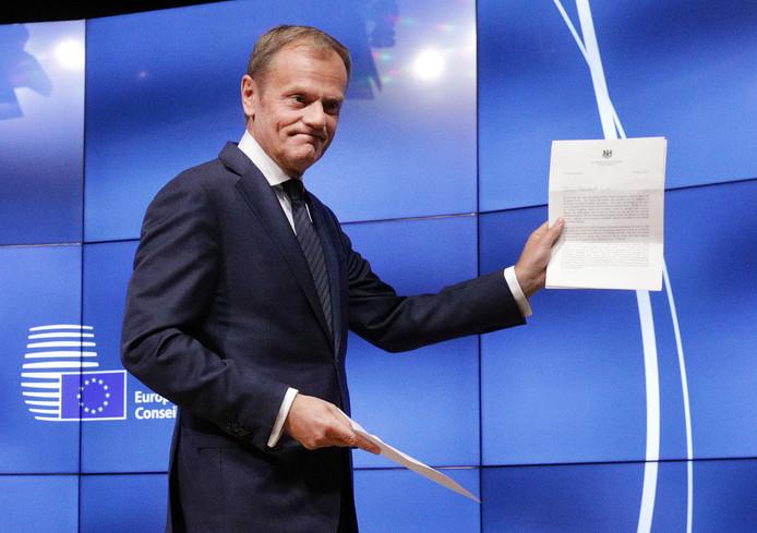 Voorzitter van de Europese raad Donald Tusk (archieffoto)