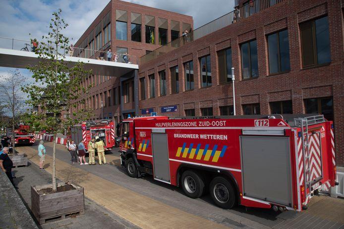 Brandalarm aan de parking Rode Heuvel.