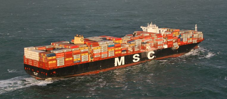 MSC Zoe verloor tijdens een storm eerder deze maand 291 containers.