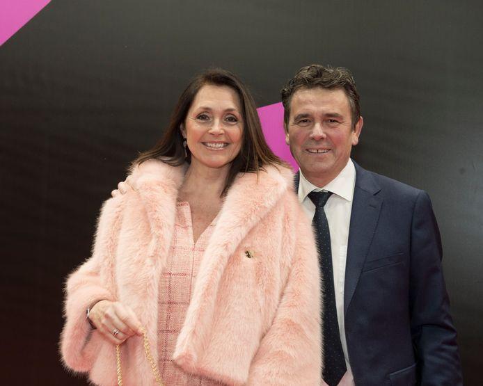 Wendy Van Wanten met haar partner Frans