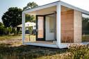Een tiny house zoals dat in Renesse komt te staan. Wellicht zijn deze ook heel geschikt om in De Peel gebouwd te worden.