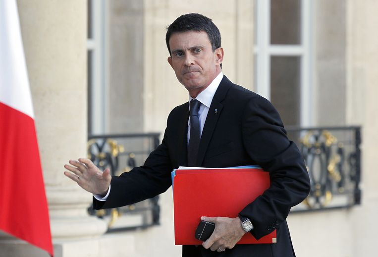 De Franse premier Manuel Valls. Beeld getty