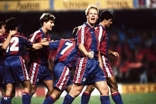 Ronald Koeman in het shirt van FC Barcelona.