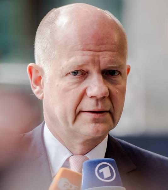 De Britse minister van Buitenlandse Zaken, William Hague.