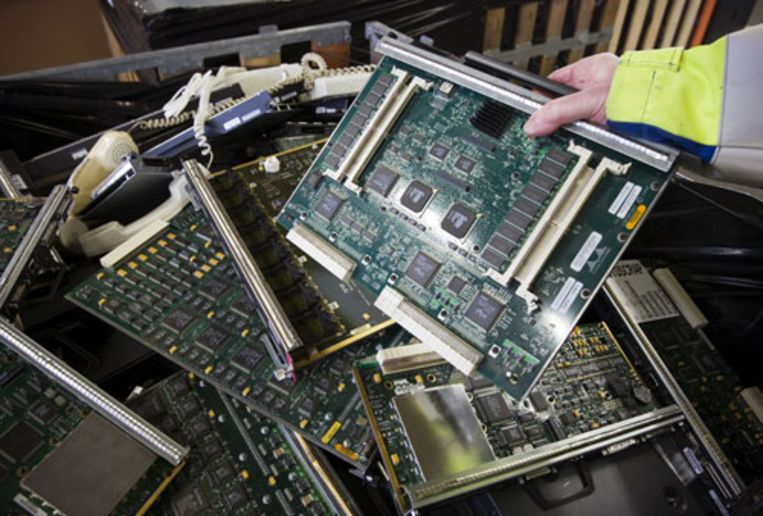 Europa dumpt afval van elektronica massaal in AfrIka en Azië (ANP) Beeld