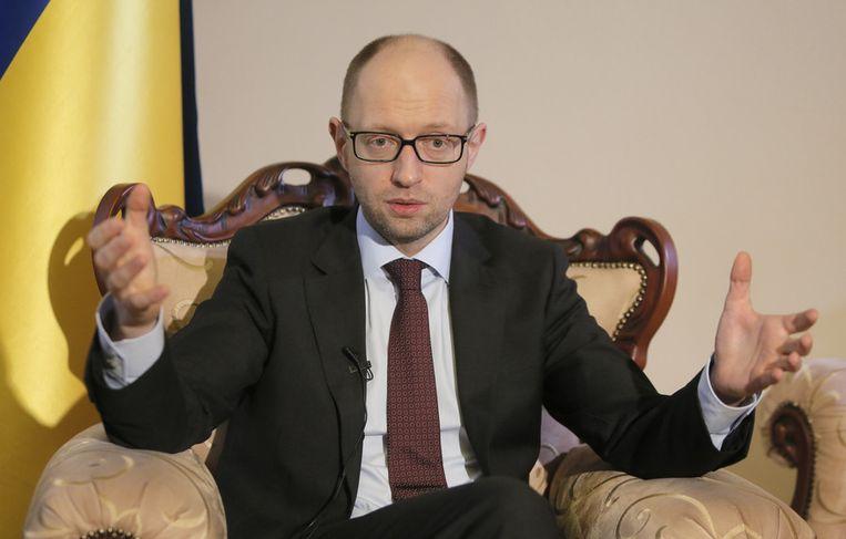 De Oekraïense premier Arseni Jatsenjoek. Beeld ap