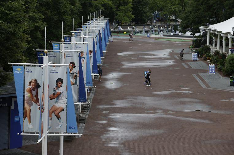 Het terrein van de US Open. Beeld EPA