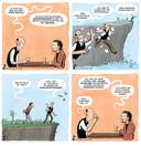 Een ontwerp van striptekenaar Hugo Seriese