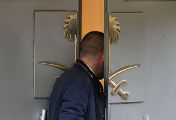 Het consulaat in Istanboel waar Khashoggi stierf.