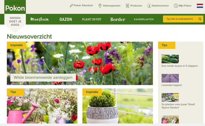 De website van Pokon.