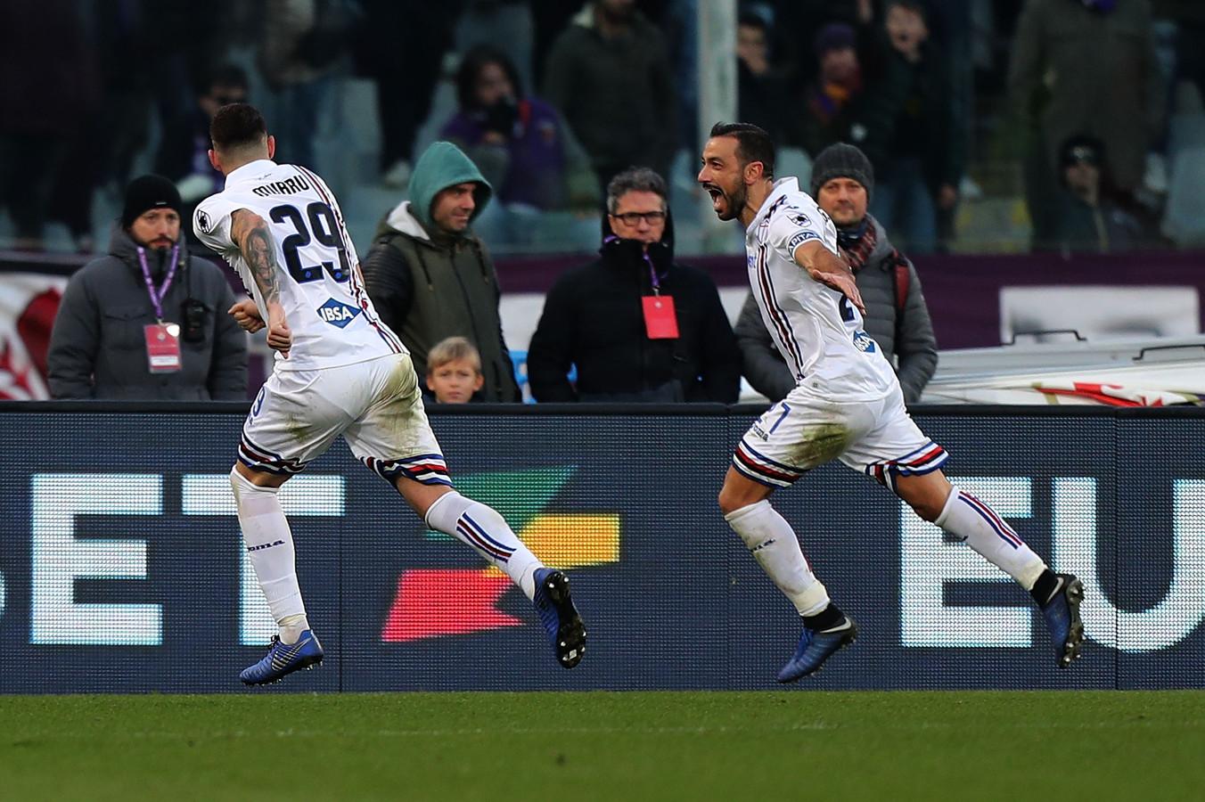 Fabio Quagliarella viert zijn derde goal.