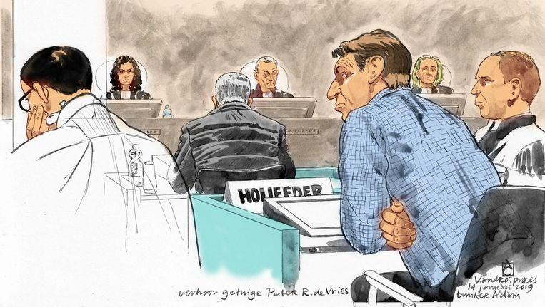 Peter R. de Vries bracht de geluidsopname in die hij van het gesprek met Holleeder had gemaakt. Daarover is hij in januari verhoord. Beeld anp