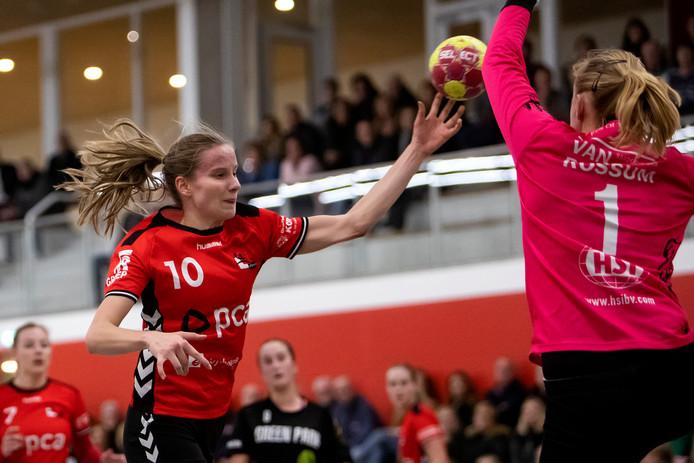 De talentvolle Romé Steverink was goed voor negen treffers voor Kwiek tegen Aalsmeer.